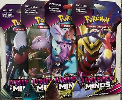 Unified Minds 10x Booster Packs Factory Sealed! Pokemon