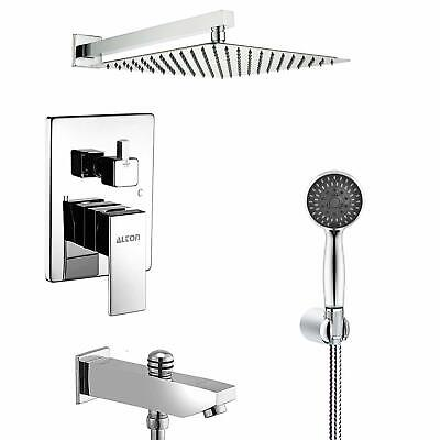 Brass Concealed Body Diverter Full Set With Showers and Bath Tub Spout (Chrome)