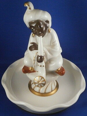 Antique German Porcelain Blackamoor Figural Bowl / Ash Tray / Pin Tray Germany