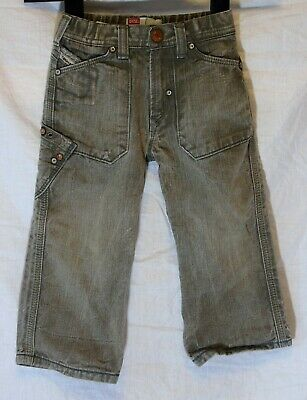 Baby Boys Diesel Mid Grey Distressed Denim Relaxed Fit Jeans Age 18-24 Months