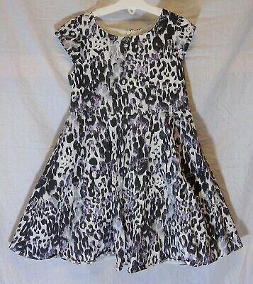 Girls Matalan Grey White Lilac Abstract Print Mesh Lined Party Dress Age 7 Years
