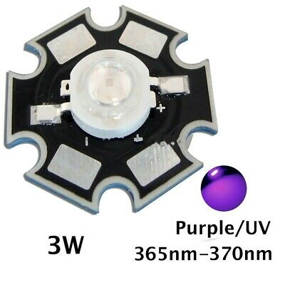 NEW 3W 365nm UV LED ultraviolet LED chip light High Power bead with 20mm pcb