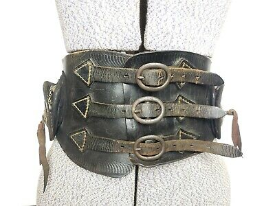 Vintage Buco Leather Motorcycle Kidney Belt Jeweled & Studded 30's-40's USA 28""