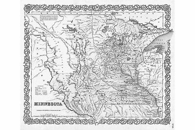WOW! 1855 MN MAP MURRAY NICOLETT NOBLES NORMAN OLMSTED OTTER TAIL PENNINGTON big