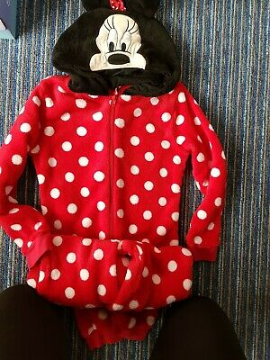 Girls red minnie mouse All In One age 7 - 8 years