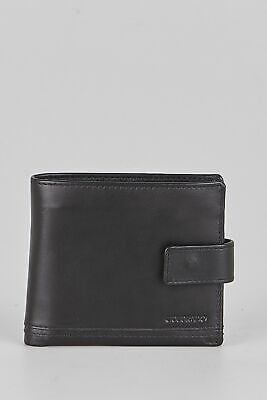 New Colorado Leather RFID Double Stitch Tabbed Mens Wallet Black