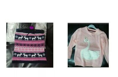 Girls Christmas Skirts And Jumper 5-6years