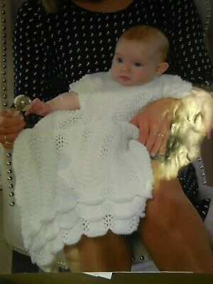 Hand Knit Christening Gown Brand New