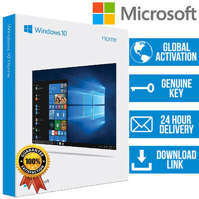WINDOWS 10 Home 1 PC 32/64 BIT GENUINE ACTIVATION PRODUCT KEY + Download Link