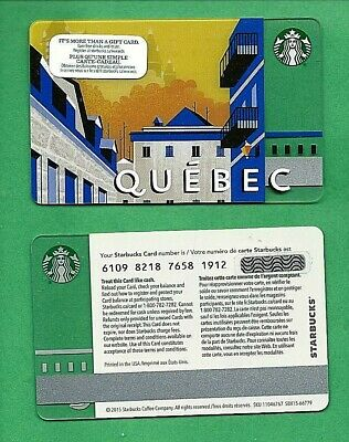2015 Starbucks QUEBEC Canada Bilingual Gift Card No  Value