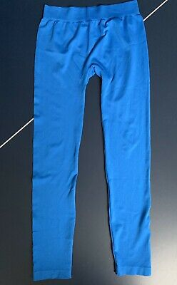 """Womens Juniors Leggings  Bright Blue One Size Fits Up To 14-""""Colorful""""  Brand"""