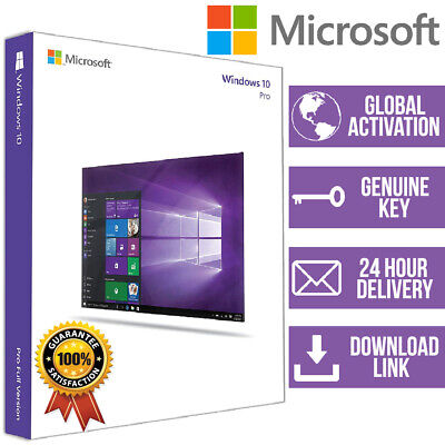 WINDOWS 10 Pro 1 PC 32/64 BIT GENUINE ACTIVATION PRODUCT KEY + Download Link