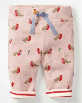 NEW IN Ex Baby Boden Bestseller Festive Robin Reversible Pants  0-4Years RRP £34