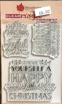 FRS632 Deco Sayings Woodware A6 Clear Cling Stamps