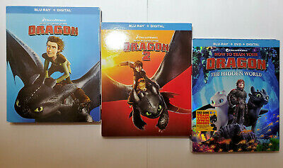 How to Train Your Dragon 1+2+3 Trilogy (Blu-ray+DVD+Digital Copy+SLIP COVERS)