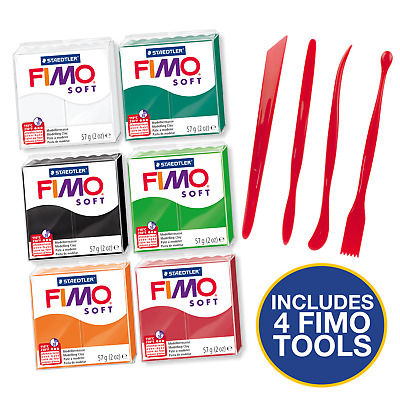 Fimo Starter Kit 6 Colours And Tool Set Spooky Halloween Colours Set