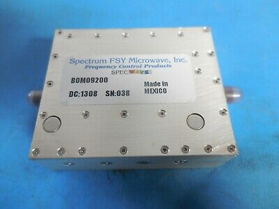 Spectrum FSY Microwave BOM09200 Band Pass Filter