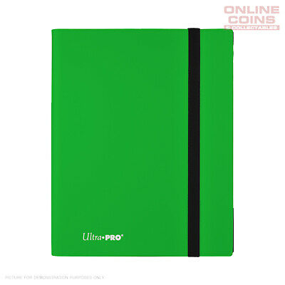 Ultra-Pro ECLIPSE Pro Binder LIME GREEN Holds 360 Cards With 20 x 9 Pocket Pages