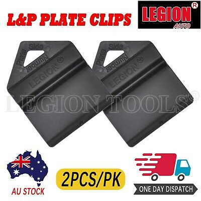 2X Black Plate Clips L & P L And P Number Plate Holders 2Pcs Green Yellow Red Au