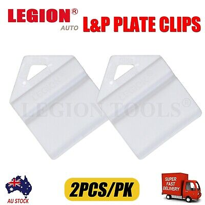 2X White Plate Clips L & P L And P Number Plate Holders 2Pcs Green Yellow Red Au