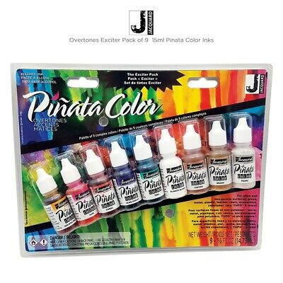 Jacquard PINATA - Alcohol Inks - Exciter Pack (New Colors) 9 Small 14ml Bottles