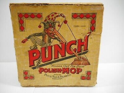 RARE 1920's PUNCH POLISH MOP BOXED .. ADELAIDE