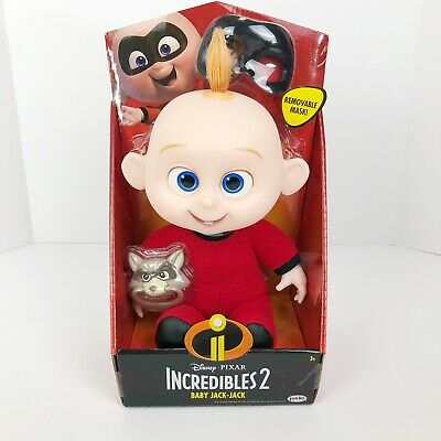 Disney Pixar Incredibles 2 Baby Jack-Jack Plush Doll Removable Mask Pacifier NEW