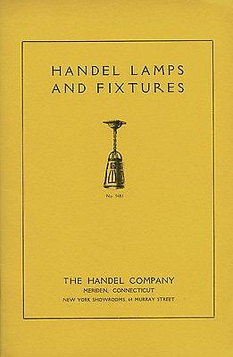 Handel Lamps Fixtures - Table Chandelier Desk / ca 1905 Catalog Reprint + Values