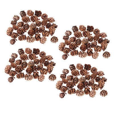 120 Pcs Mini Natural Dried Pine Cones for Christmas Tree Hanging Decorations