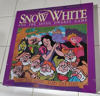 Vintage Snow White And The Seven Dwarfs Storybook Game Sealed Cadaco 1991 Rare