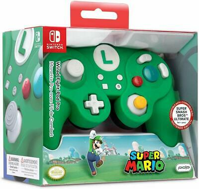 Nintendo Switch Super Mario Luigi GameCube Style Wired Controller PDP -Green