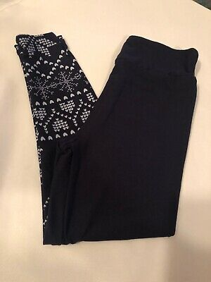 NEW Lularoe S/M Christmas Leggings 2019 Navy With Snowflakes
