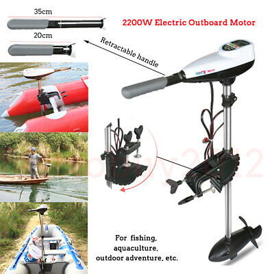 Heavy Duty 260LB Electric Outboard Motor Trolling Inflatable Propeller 2200W 48V