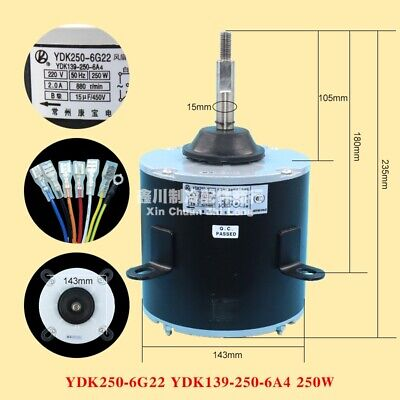 1PCS Air conditioning YDK250-6G22 outdoor cooling motor YDK139-250-6A4 250W