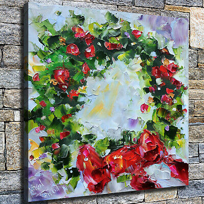 "12""x12"" Christmas wreath HD Canvas print Home decor Wall art paintings pictures"