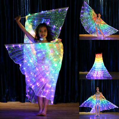 RAINBOW WINGS - LED BUTTERFLY COSTUME Children Dancing Performance Shawl Fairy