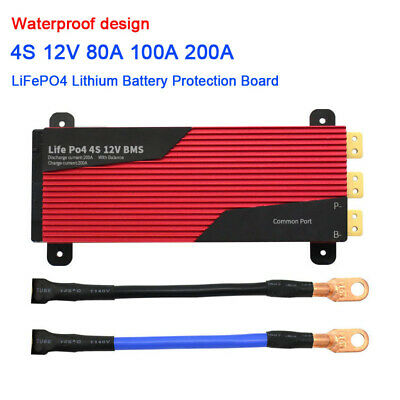 4S 80A 100A 200A 12V 3.2V LiFePO4 Lithium Battery Protection Board BMS Balance