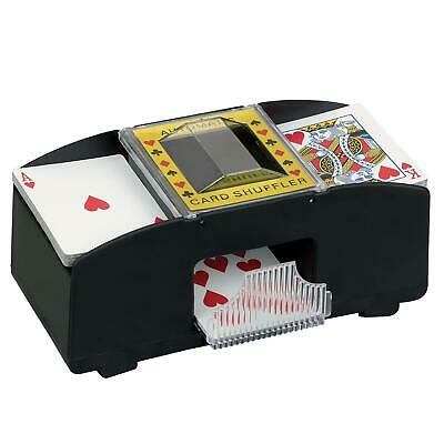 New Automatic 2 Cards Shuffler Sorter Casino Playing Poker One Or Two Deck Uk