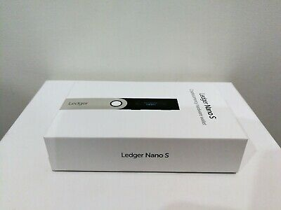 Ledger Nano S - Crypto Hardware Wallet - BTC BCH ETH LTC XRP- Unused