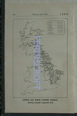 1923 Vintage Railway Map - London & North Eastern Railway