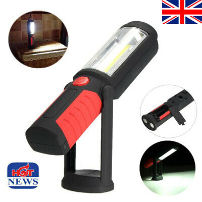Rechargeable COB+LED Hand Torch Lamp Magnetic Inspection Work Light Flexible UK