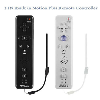 1X 2X  2 IN 1Built in Motion Plus Remote Controller For Nintendo Wii Games New