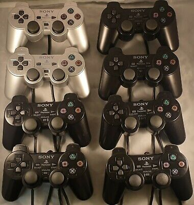 8 x Official Sony Playstation 2/ PS2 Controllers Dualshock 2 *FAULTY*