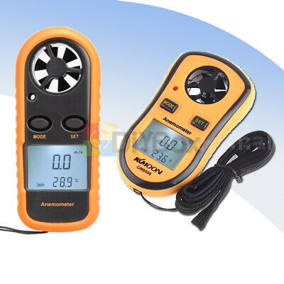 Digital LCD Mini Anemometer Wind Speed GM816 Tester Temperature Thermometer