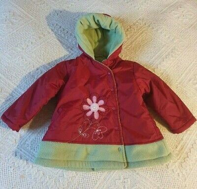 In Extenso Girls Hooded Fleece Lined Winter Coat Age    2 yrs