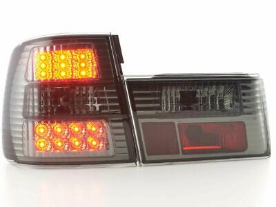 Black smoked finish LED tail rear lights for BMW 5er Typ E34 year 88-94