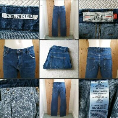 "*Used* Lovely Pair of Mens Blue Denim Jeans▪NEXT▪Size 32"" R~Casual~Loose~Stretch"