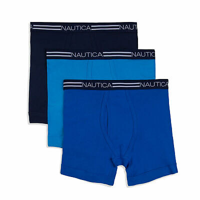 Nautica Mens Classic Boxer Briefs, 3-Pack