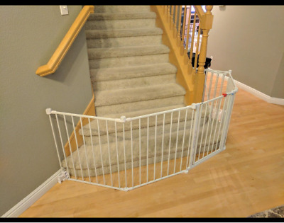 Regalo 1350 DS Super Wide Gate and Play Yard - White
