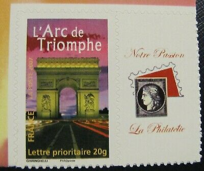 Timbres Neufs FRANCE - TIMBRE PERSONNALISE ADHESIF 3599B ARC DE TRIOMPHE